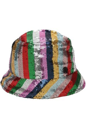 Le Mont St Michel Souna Striped Sequins Bucket Hat
