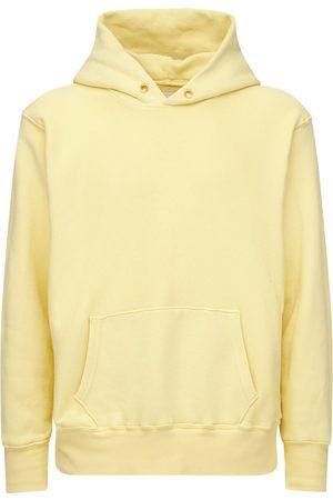 Les Tien Cropped Cotton Sweatshirt Hoodie