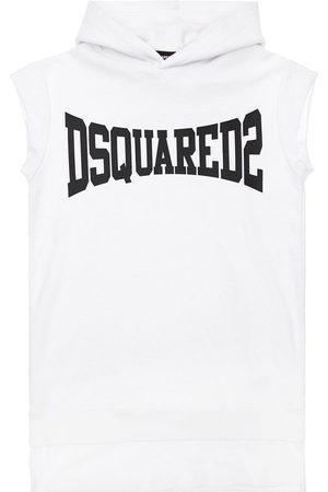 Dsquared2 Logo Print Hooded Cotton Sweat Dress