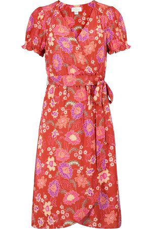 Velvet Meadow floral wrap dress