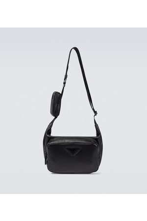 Prada Leather debossed belt bag