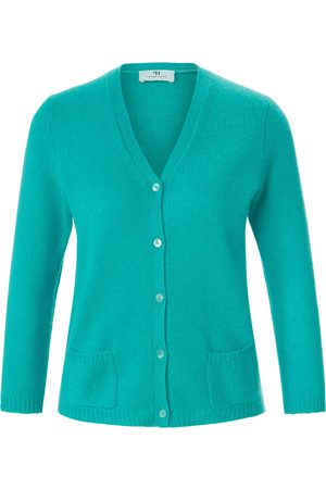 Peter Hahn Cardigan made of 100% premium cashmere turquoise size: 10