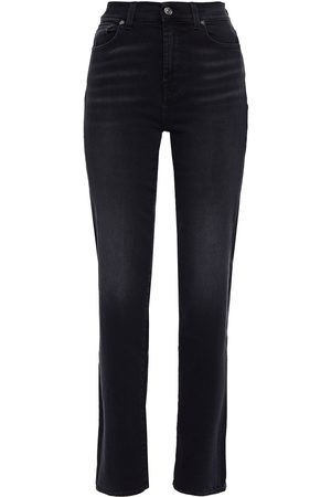 7 for all Mankind Woman Faded High-rise Straight-leg Jeans Size 28