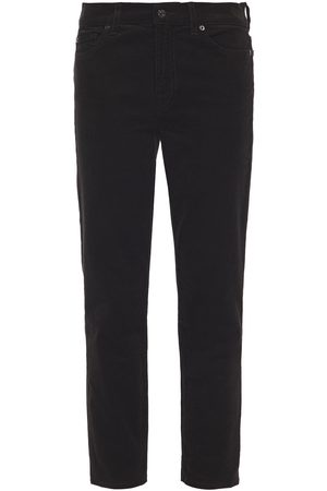 7 for all Mankind Women Skinny Trousers - Woman Cropped Cotton-blend Corduroy Slim-leg Pants Size 24