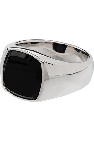 TOM WOOD Men Rings - Onyx square signet ring