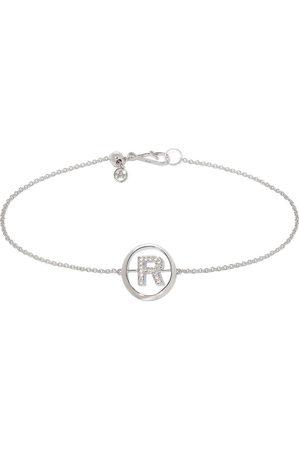 Annoushka 18kt white gold diamond Initial R bracelet