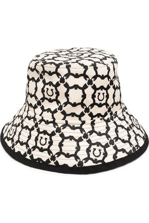 Salvatore Ferragamo Gancini pattern bucket hat - Neutrals