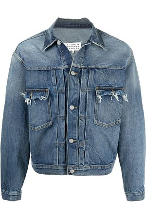 Maison Margiela Frayed effect denim jacket