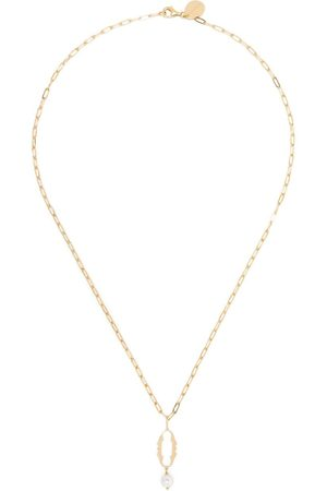 Simone Rocha Women Necklaces - Pearl-embellished 0 letter necklace