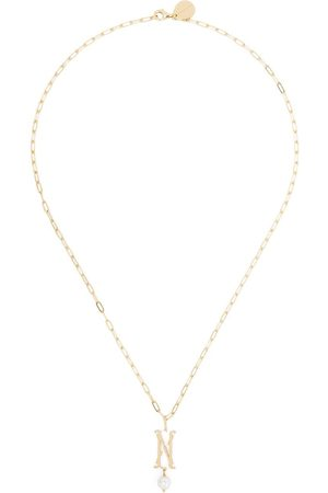 Simone Rocha Women Necklaces - Pearl-embellished N letter necklace