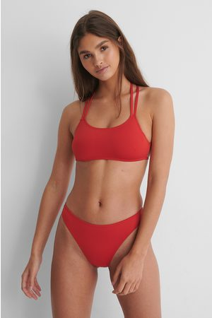 NA-KD High Cut Reborn Bikini Panty - Red