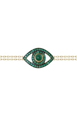 NETALI NISSIM Yellow Gold, Emerald and Quartz Protected Bracelet