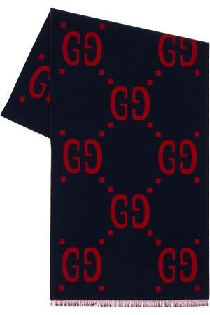 Gucci Gg Jacquard Wool & Silk Scarf