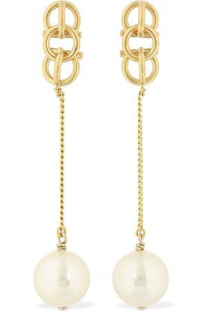 Salvatore Ferragamo Imitation Pearl Gancio Drop Earrings