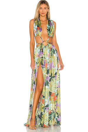 Bronx and Banco Tropics Maxi Dress in ,Blue. Size S, M.