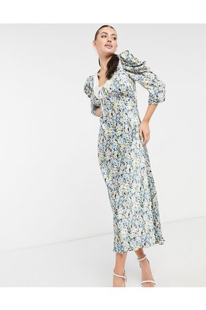 Ghost Essie midi dress with collar detail in floral