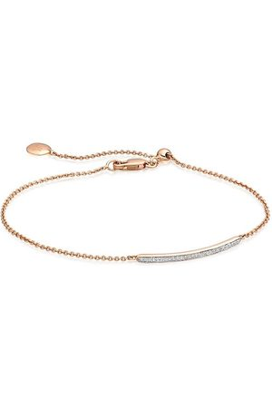 Monica Vinader Women Bracelets - Skinny Short Bar Diamond bracelet