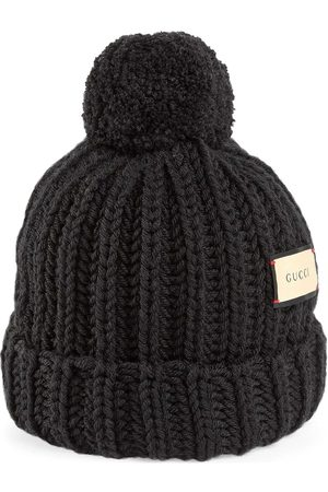 Gucci Logo patch knitted hat