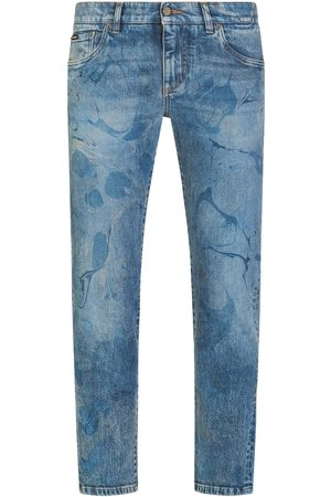 Dolce & Gabbana Bleach-effect tapered jeans