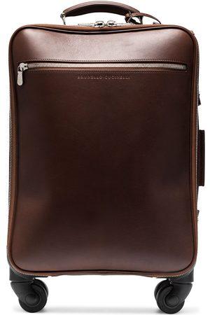 Brunello Cucinelli Men Suitcases - Leather cabin suitcase