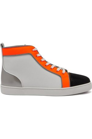 Christian Louboutin Louis Orlato Leather High-top Trainers - Mens - Multi