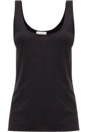 Raey Scoop-neck Cotton-blend Jersey Tank Top - Womens