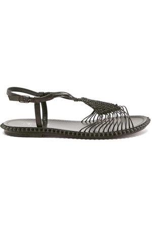 Christian Louboutin Janis In Spain Macramé Sandals - Womens