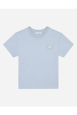 Dolce & Gabbana Boys Polo Shirts - T-Shirts and Polo - JERSEY T-SHIRT WITH LOGO TAG male 3