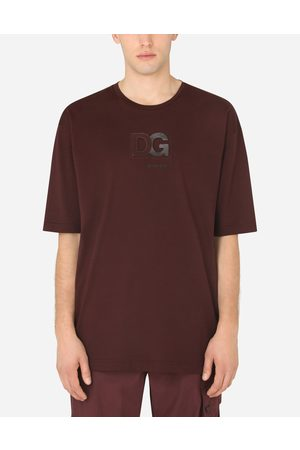 Dolce & Gabbana T-Shirts and Polos - COTTON T-SHIRT WITH 3D DG LOGO male 50