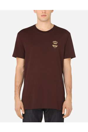 Dolce & Gabbana Men Short Sleeve - T-Shirts and Polos - COTTON T-SHIRT WITH FRENCH WIRE PATCH male 42