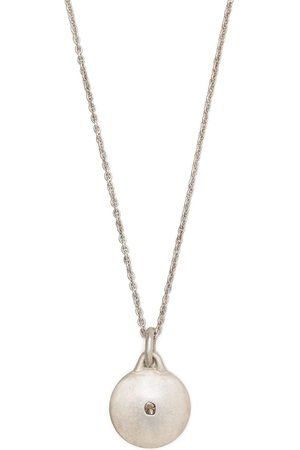 PARTS OF FOUR Necklaces - Disk diamond-encrusted necklace - Metallic
