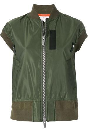 Sacai Women Bomber Jackets - Shortsleeved bomber jacket