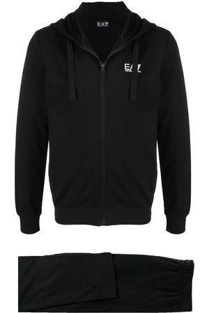 EA7 Logo-print cotton tracksuit