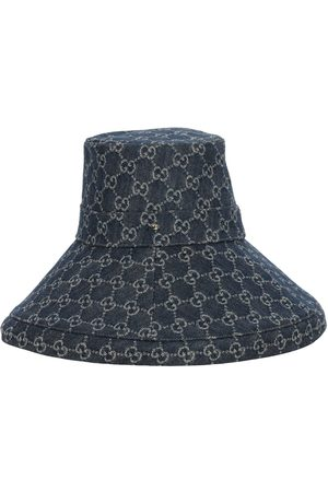 Gucci Women Hats - Gg Denim Lamé Brimmed Hat