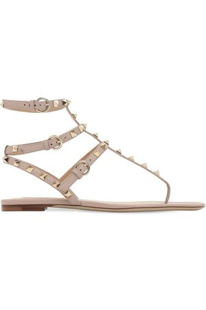 VALENTINO GARAVANI 10mm Rockstud Leather Sandals