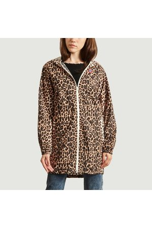 Flotte Amelot recycled canvas long raincoat Leopard