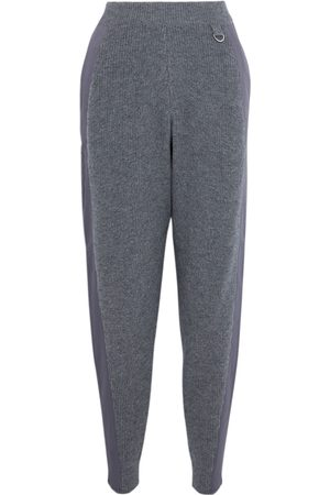 Stella McCartney Women Trousers - Woman Twill-trimmed Wool Tapered Pants Anthracite Size 36