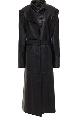 Stella McCartney Women Trench Coats - Woman Belted Faux Leather Coat Size 38