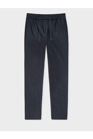 Paul Smith Navy Wool Drawstring Trousers W2R-133T-E20682