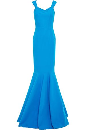 Roland Mouret Woman Flared Stretch-cotton Twill Gown Bright Size 10