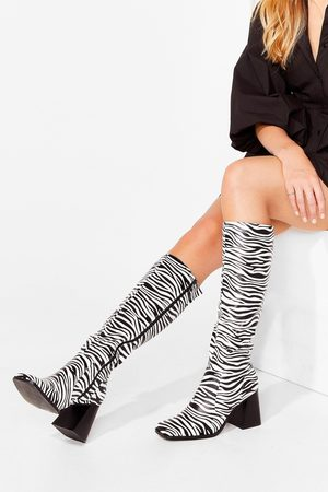 NASTY GAL Womens Meet Our Wild Side Knee High Boots - - 5