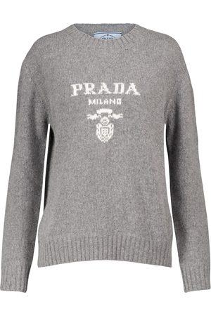 Prada Logo wool and cashmere sweater