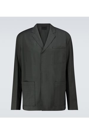 Prada Single-breasted wool poplin jacket