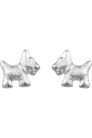 The Love Silver Collection Scottie Dog Studs