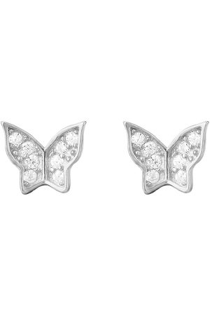 The Love Silver Collection Butterfly Cubic Zirconia Studs