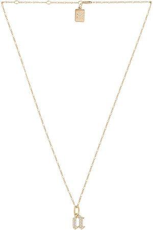 MIRANDA FRYE Gothic Charm & Van Chain Necklace in . Size C, E, F, G, I, J, K, M, N, O, P, R, T.