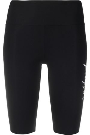 Wolford Women Shorts - Logo-print biker shorts