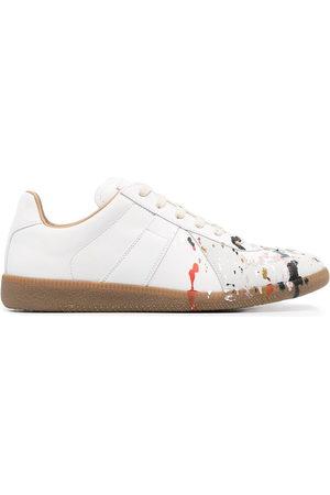 Maison Margiela Paint-splattered Replica sneakers