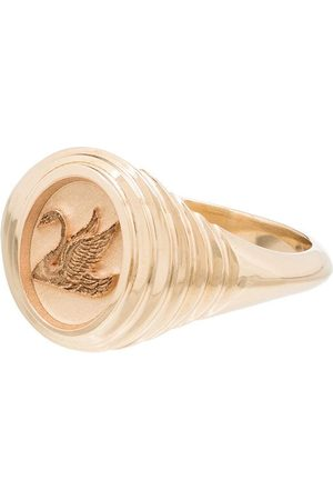 Retrouvai 14kt yellow Baby Swan ring