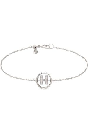 Annoushka 18kt white gold diamond Initial H bracelet